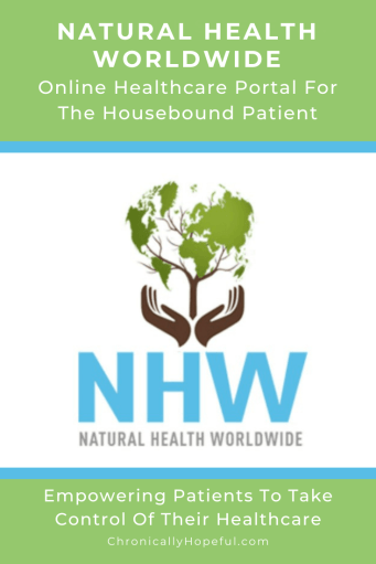 Natural Health Worldwide's logo of a tree growing in the palm of hands