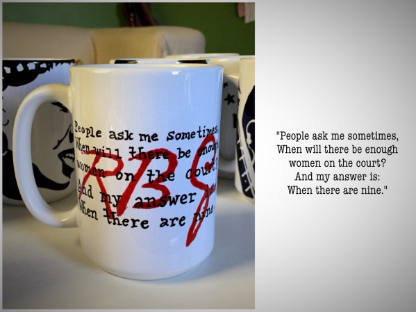 RBG quote Ruth Bader Ginsburg Hand painted mug from Sconnie Life on Etsy.