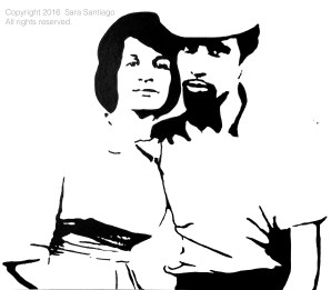 Mis Suegros #BeBraveBrain Original painting by Sara Santiago
