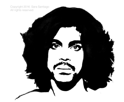 Prince #BeBraveBrain Original painting by Sara Santiago