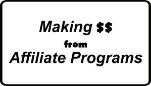 Making money from affiliate programs