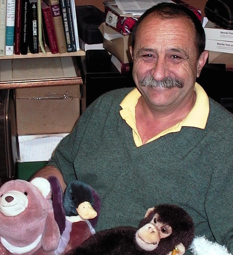 Tony Madrid and stuffed animals