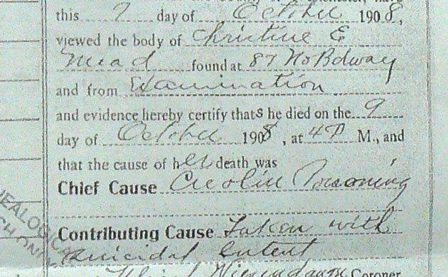 Death-Certificate paternal grandmother