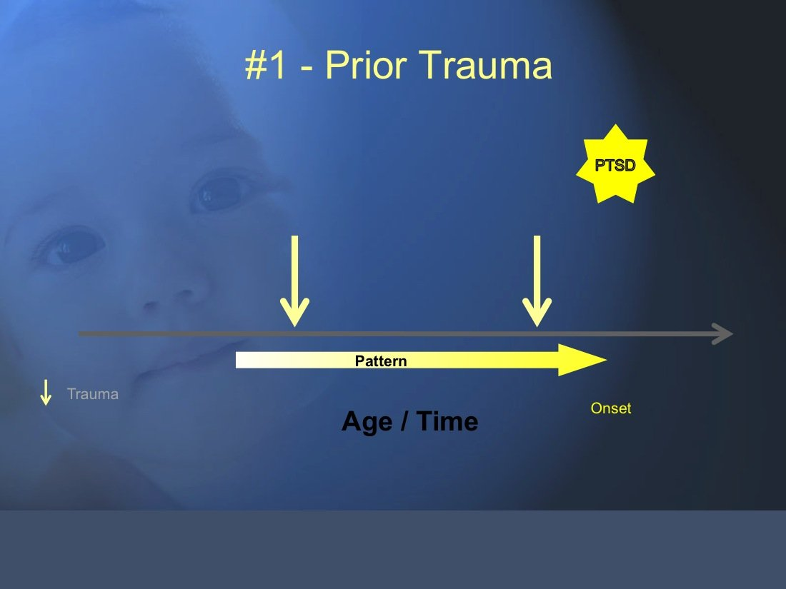 The Trauma and Chronic Illness Model 1. Prior Trauma is associated with risk for PTSD in war veterans