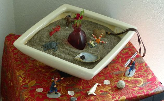 Tools for listening to your linner voice include sand tray and art therapy