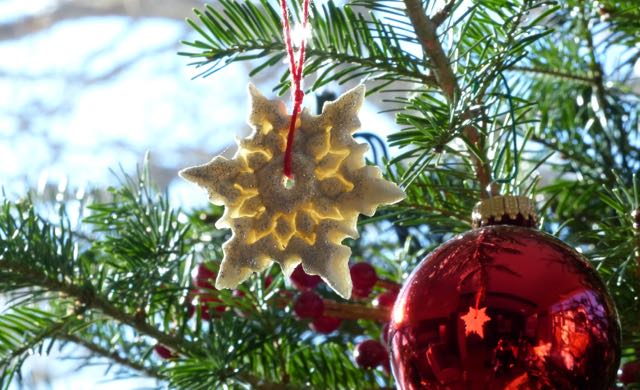 A homemade star from friends inspire a plan for making our own ornaments next year