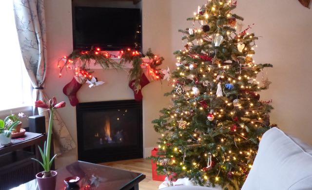 Decorating - even a little - really helps me get into the holiday spirit. After. A post on Tumbling the stone: a chronic illness blog