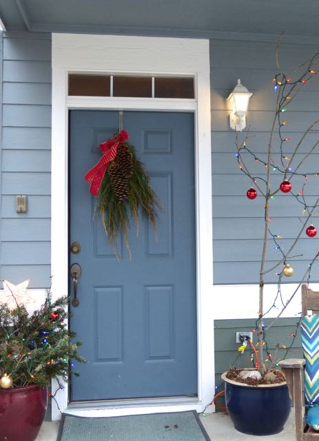 This year's little outdoor Charlie Brown Christmas Tree; A post on Tumbling the stone: a chronic illness blog
