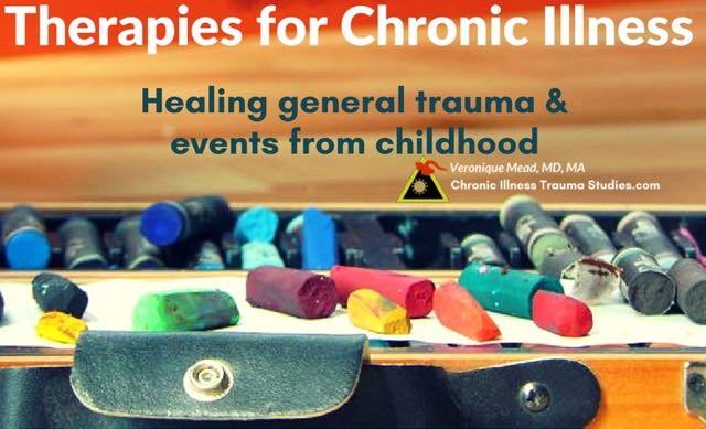 Healing trauma is helpful in treatment of chronic illness. Approaches for working with adverse childhood experiences [ACEs), general trauma (accidents, surgery, loss, abuse, assault, physical trauma and more). Trauma therapies help decrease the perception of threat and support reinstating altered balanced patterns of nervous system regulation. A post in the chronic illness blog Chronic Illness Trauma Studies #ME/CFS #MS #type1diabetes #asthma #RA #Fibro