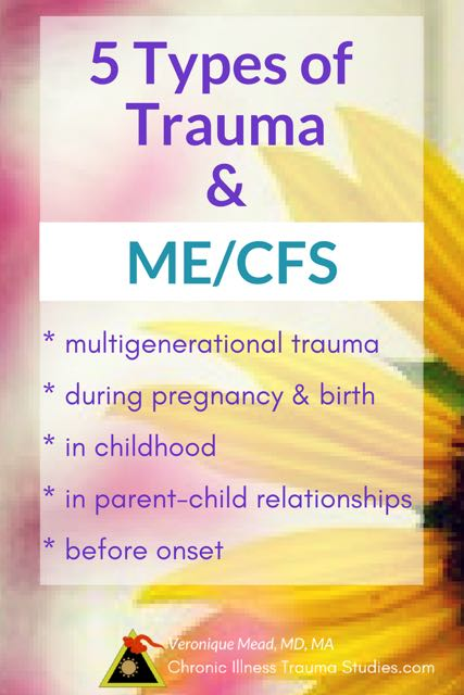 5 Types of Trauma helped me make sense of my chronic fatigue syndrome (ME/CFS) including events in childhood and birth that had seemed completely normal