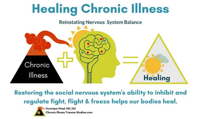 Links between chronic illness, trauma and the nervous system provide insights for treatment, healing and recovery in chronic disease. Mead. Chronic Illness Trauma Studies.
