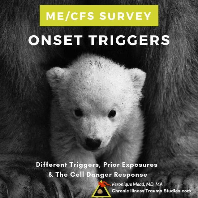 Survey Questionnaire looks at Adverse pre-onset experiences (APOEs) that can trigger the onset of diseases such as #mecfs #autoimmune #diabetes after exposure to environmental risk factors such as infections, mold, psychological stress or trauma, physical trauma Mead_CITS