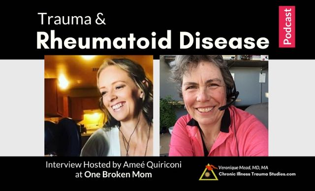 Trauma and rheumatoid disease rheumatoid arthritis_podcast interview hosted Amee Quiriconi Veronique Mead_CITS