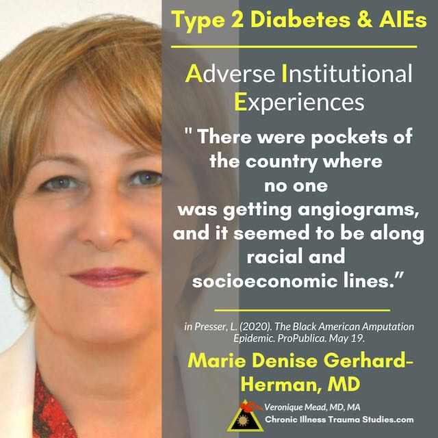 Type 2 diabetes and trauma AIEs Discrimination Mead CITS