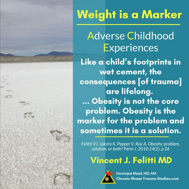 Obesity is not the cause of type 2 diabetes but a biomarker indicator Felitti in Mead CITS