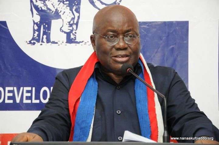 Nana Akufo-Addo is the presidential candidate of the New Patriotic Party (NPP)