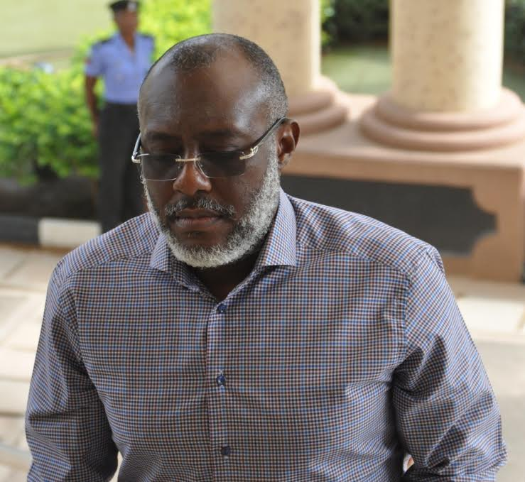 Olisah Metuh is in court on corruption charges