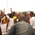 Ex-militants of Niger Delta in a protest