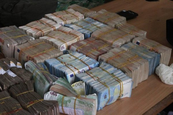 The cash haul: The Euros found in Balogun Market Lagos