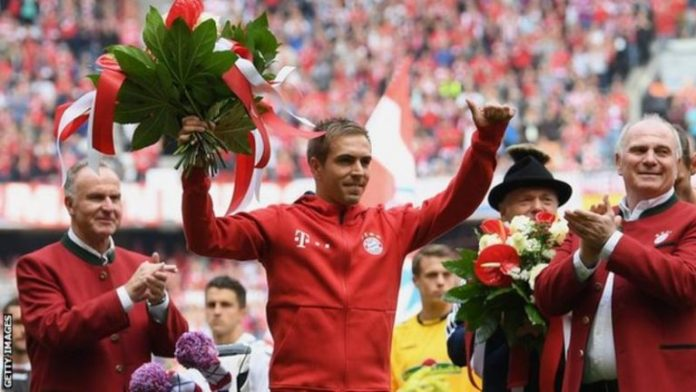 Lahm has helped Bayern win 21 major trophies since making his debut in 2002