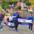 Some Salvadorans on a parade in Seattle, Washington
