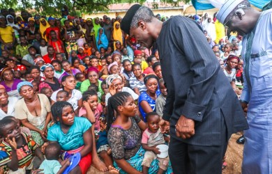 Vice President Yemi Osinbajo, SAN, visits Awe LGA; Kyetor, Obi LGA and Agyaragu also in Obi LGA, IDPs camps in Nasarawa State where he interacted with women, children and men