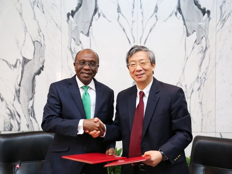 Central Bank of Nigeria signed a bilateral local currency swap agreement with the People's Bank in Beijing