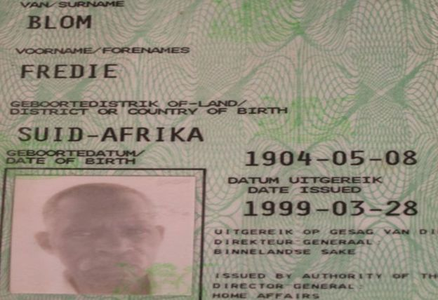 Fredie Blom was born in 1904 and was issued a birth certificate by the government