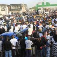 FILE PHOTO: A crowd in Banjul, Gambia