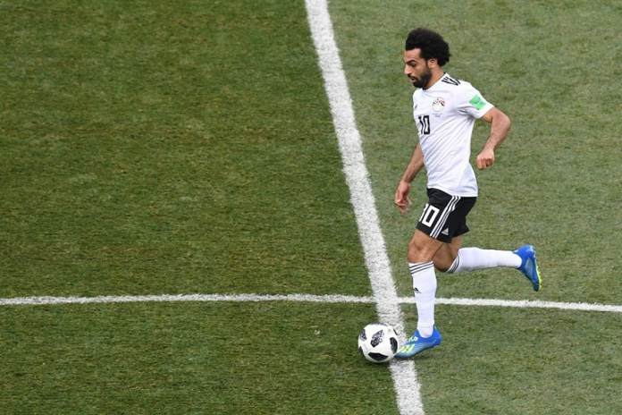 Mohamed Salah scored in two appearances for Egypt at the World Cup