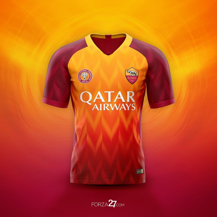 Roma wants best concept kits that combine the classic style of the Giallorossi shirt with the fresh new look of the Super Eagles