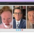 Stephen Colbert host of The Late Night Show and Jimmy Fallon host of The Tonight Show teamed up against President Trump. Conan O'Brien also made a cameo appearance