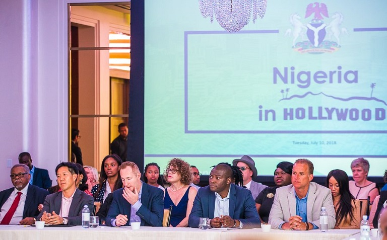 """Nigeria in Hollywood"" as Prof Yemi Osinbajo meets with representatives from leading movie outfits"