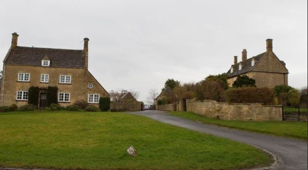The pair have been living separately since 2015, Mrs Owens in Hill Farm House (left) and Mr Owens in Manor House (right)