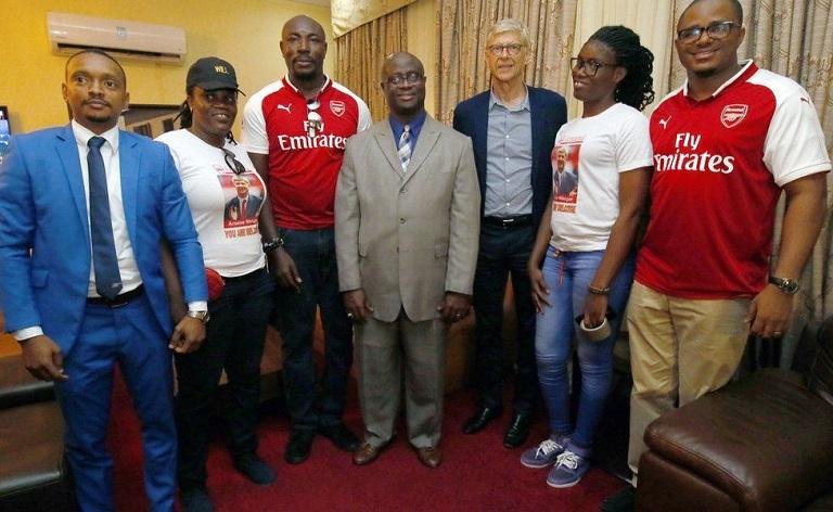 Arsenal fans showed love to Arsene Wenger on arriving Liberia