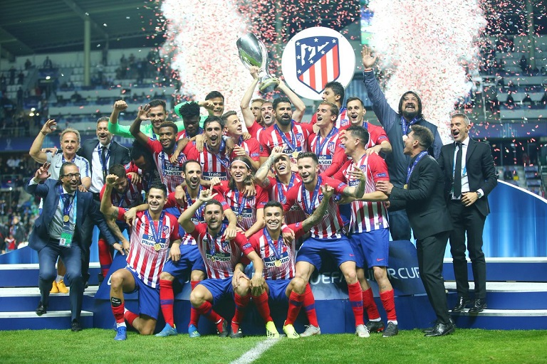 Atletico Madrid won the Super Cup beating rivals Real Madrid in extra-time