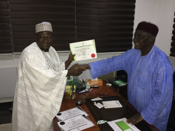 Lawal Yahaya Gumau won the Bauchi South Senatorial District bye-election and has been issued a certificate of return