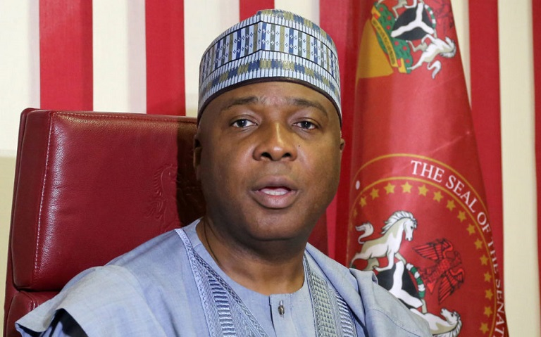 Nigeria's Senate President Bukola Saraki has refused to resign despite defecting to an opposition party
