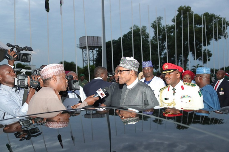 President Muhammadu Buhari has returned to Nigeria after a 10-day vacation in London