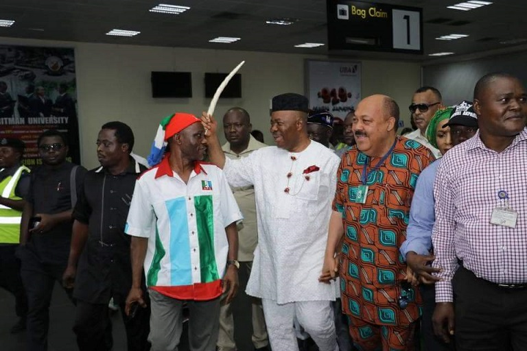 Senator Godswill Akpabio has formally dumped the Peoples Democratic Party for the ruling All Progressives Congress