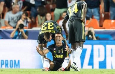 Cristiano Ronaldo sees red as Juventus beat Valencia at the Mestalla Stadium