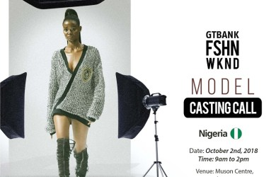 GTBank Fashion Weekend Model Casting Call