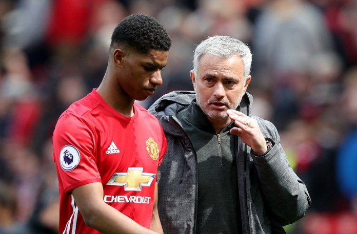 Jose Mourinho says Marcus Rashford has played 5,744 minutes in 105 games in all competitions