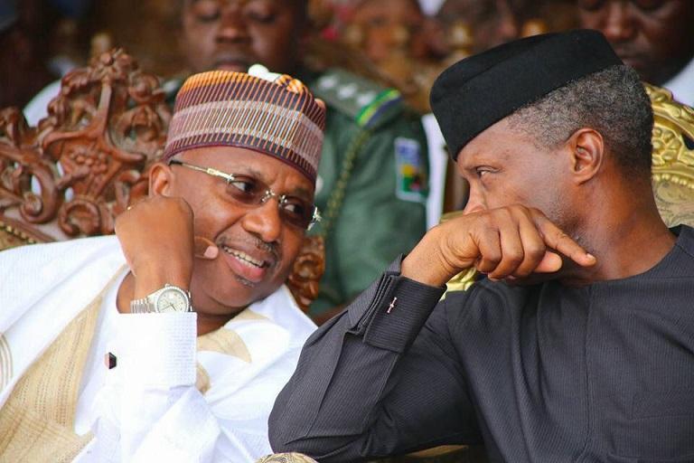 Vice President Yemi Osinbajo and Governor Muhammad Jibrilla Bindow are in a closed door meeting over Adamawa APC crisis
