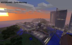 Sunrise in Jesterland. Don't log in, or you'll be infected with Jester's botnet like hundreds of thousands of retired people.