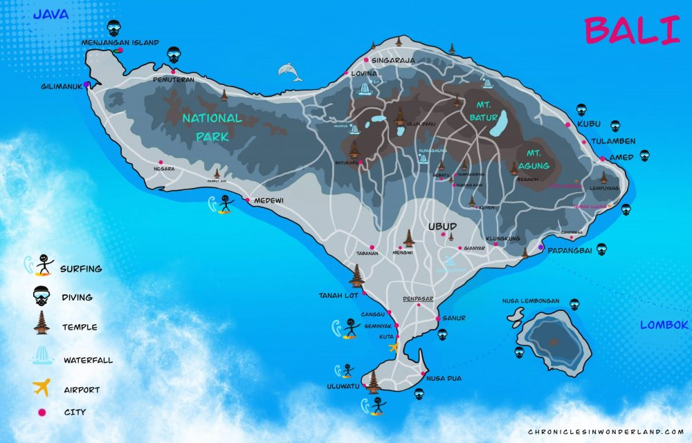 BALI Map beautiful