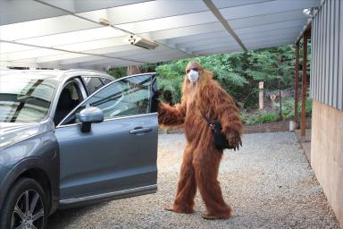 Daniel Oster as Bigfoot Heading Off to Work