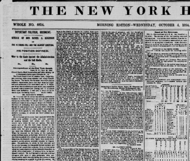 The New York Herald New York N Y 1840  1854 Morning Edition Image 1 Chronicling America Library Of Congress