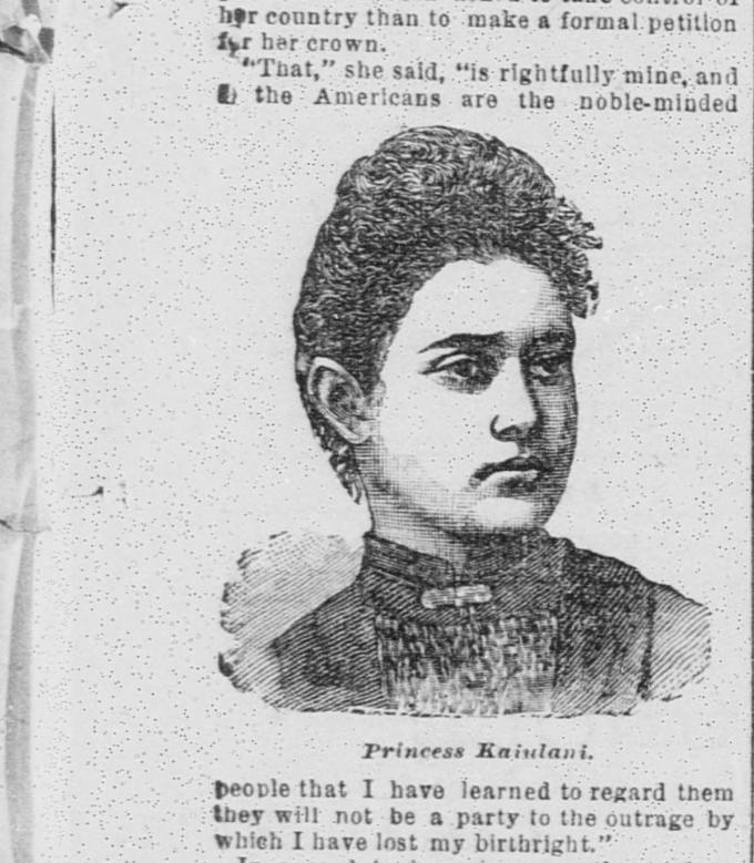 Princess Kaiulani's Portrait