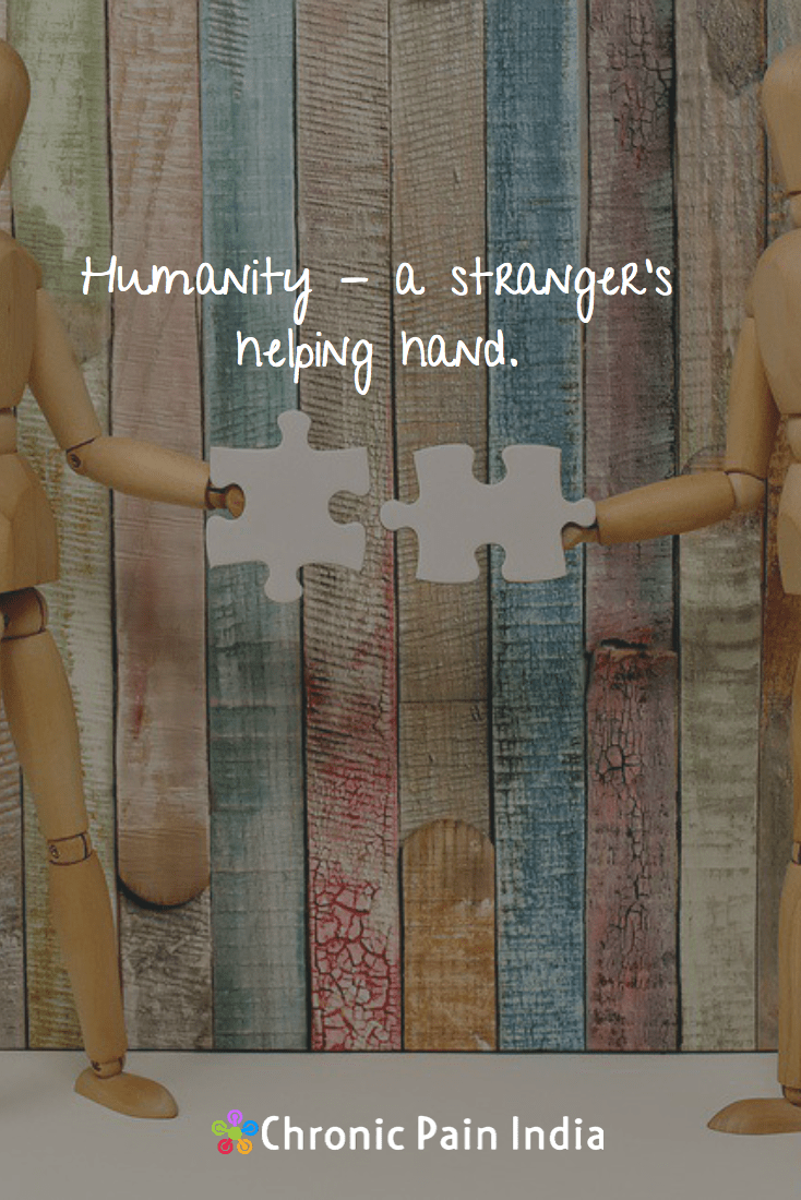 Humanity- a stranger's helping hand